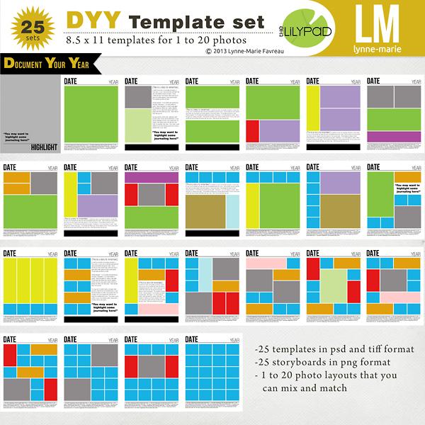 DYY Template Set 8.5x11