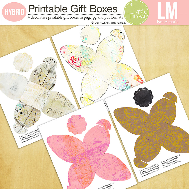 photo relating to Printable Gift Box called Printable Present Containers