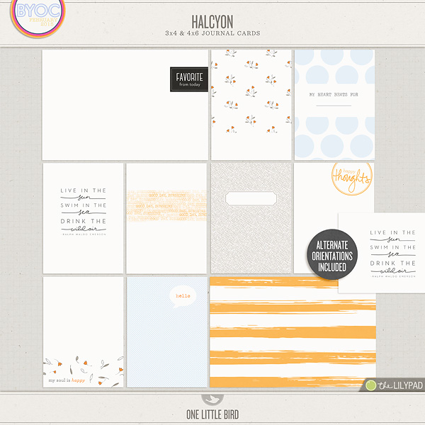 image about Printable Journaling Cards named Halcyon Journaling Playing cards