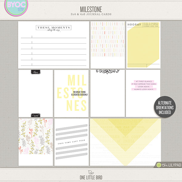image about Printable Journaling Cards identify Milestone Journaling Playing cards