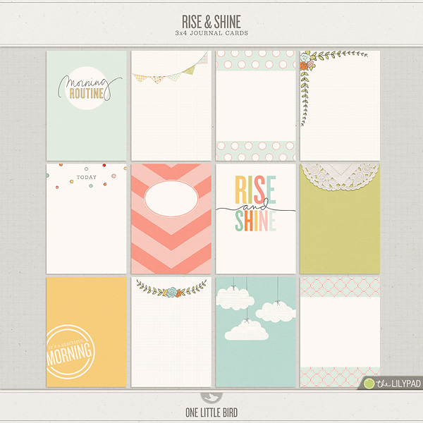 Rise and Shine Journaling Cards