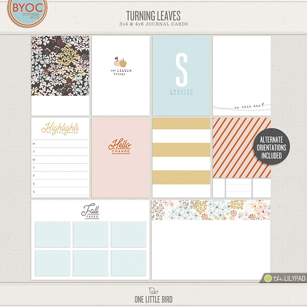 photograph about Printable Journaling Cards known as Turning Leaves Journaling Playing cards