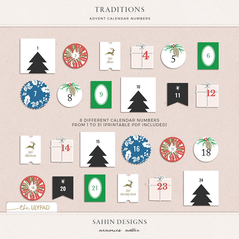 photo about Advent Calendar Numbers Printable referred to as Traditions Arrival Calendar Figures