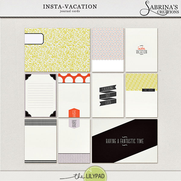 insta vacation journal cards. Black Bedroom Furniture Sets. Home Design Ideas