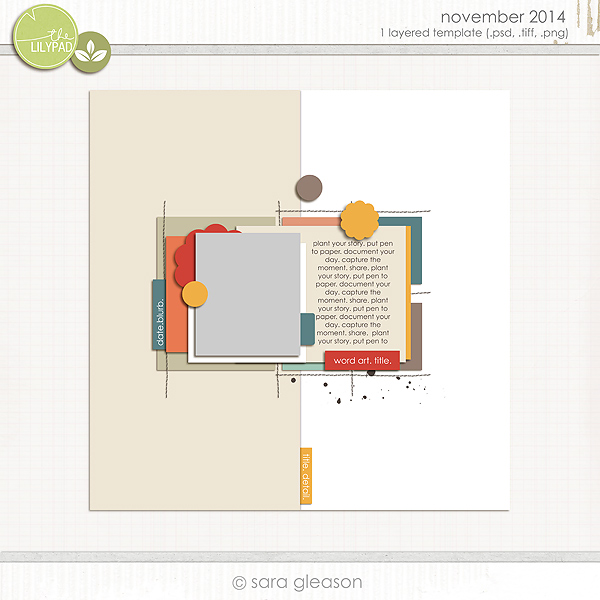 November 2014 Free Challenge Template