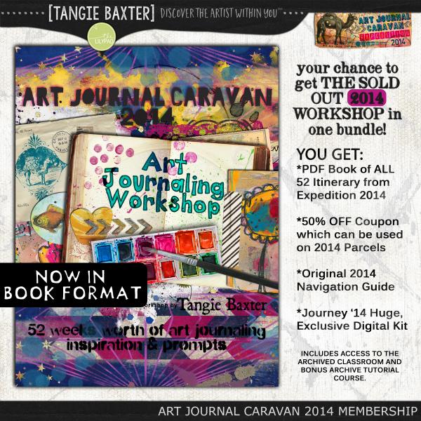 Art Journal Caravan™ Workshop Expedition 2014 {Self-Study}