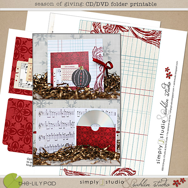Season of Giving: CD/DVD Folder Printable by Sahlin Studio and Simply J Studio