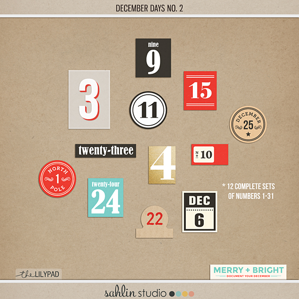 December Days No 2 (Numbers)
