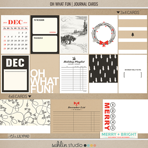 Oh What Fun | Journal Cards