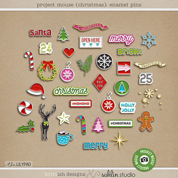 project mouse christmas enamel pins - Christmas Pins