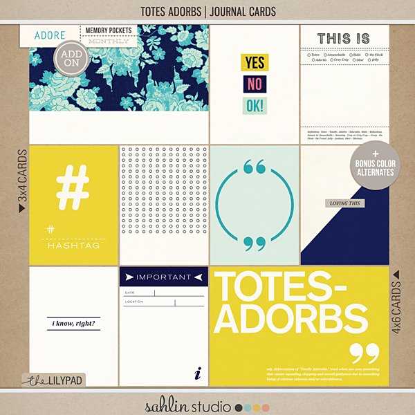 Totes Adorbs | Journal Cards