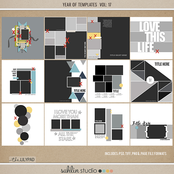Year of Templates Vol. 17 by Sahlin Studio - Digital scrapbook templates perfect for making pages in a snap!