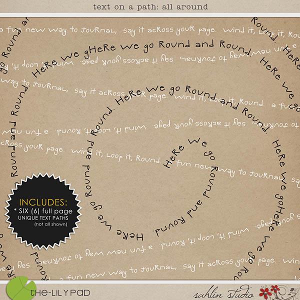 Text on a Path: All Around by Sahlin Studio