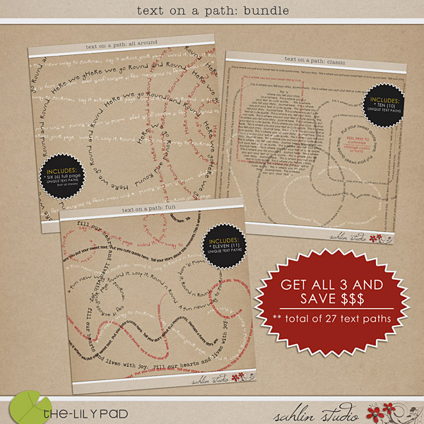 Text on a Path: Bundle by Sahlin Studio