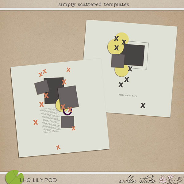 Simply Scattered Templates by Sahlin Studio