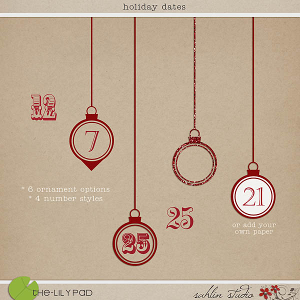 Holiday Dates by Sahlin Studio