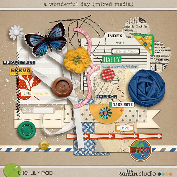 A Wonderful Day (Mixed Media) by Sahlin Studio
