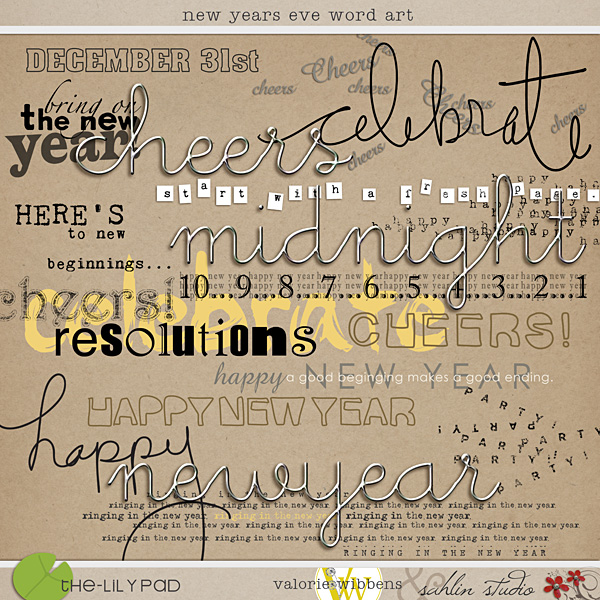new years eve word art by sahlin studio valorie wibbens