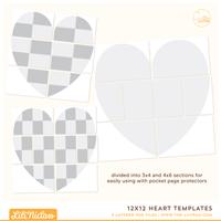 12x12 Heart Templates