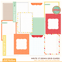 Write It Down Grid Cards