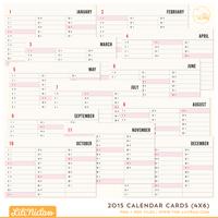 2015 Calendar Cards (4x6)
