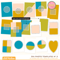 3x4 Photo Templates No.3