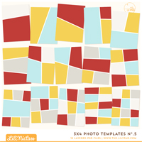 3x4 Photo Templates No.5