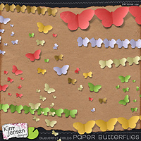 Butterfly Fields Paper Butterflies