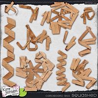 Cardboard Bits - Squashed