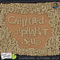 Chipboard Alphabet Soup