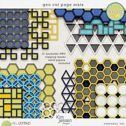 Geo Cut Page Mats by Kim Jensen