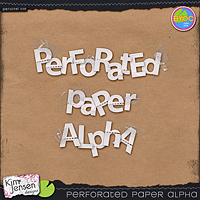 Perforated Paper Alpha