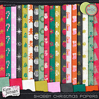 Shabby Christmas Papers