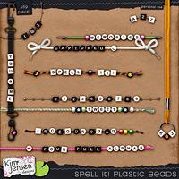 Spell It! Plastic Beads