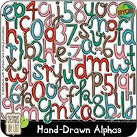 Hand-Drawn Alphas