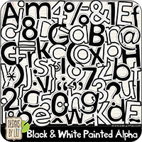 Black & White Painted Alpha