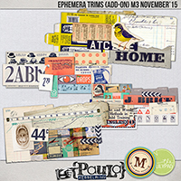 Ephemera Trims {Add On} - M3 November '15