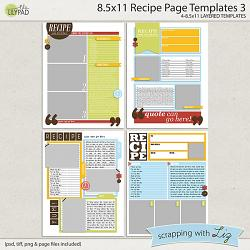recipe page templates