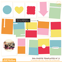 3x4 Photo Templates No.2