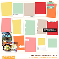 3x4 Photo Templates No.1