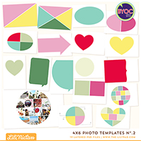 4x6 Photo Templates No.2