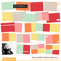 4x6 Photo Templates No.1