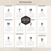 2012 Calendar Journaling Cards