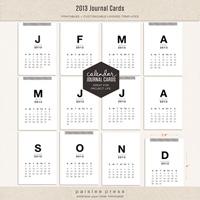 2013 Calendar Journaling Cards