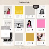 2014 Calendar Kit (Sun - Sat Format)