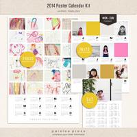 2014 Poster Calendar Kit | Monday - Sunday