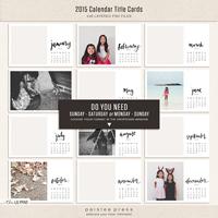 2015 Calendar Title Cards (4x6)
