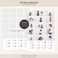 2015 Poster Calendar Kit (20x30)