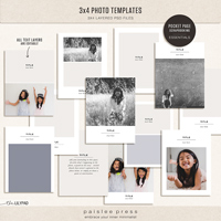 3x4 Photo Templates