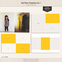 4x6 Photo Templates Vol. 1